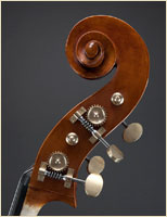 Paul Bryant English Double Bass Scroll