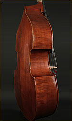 Emile Gillet upright bass side view