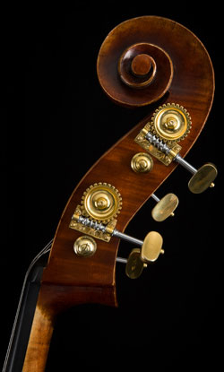 G.B Rogeri upright bass scroll
