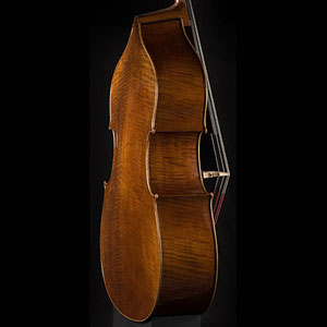 Wan-Bernadel upright bass, side view